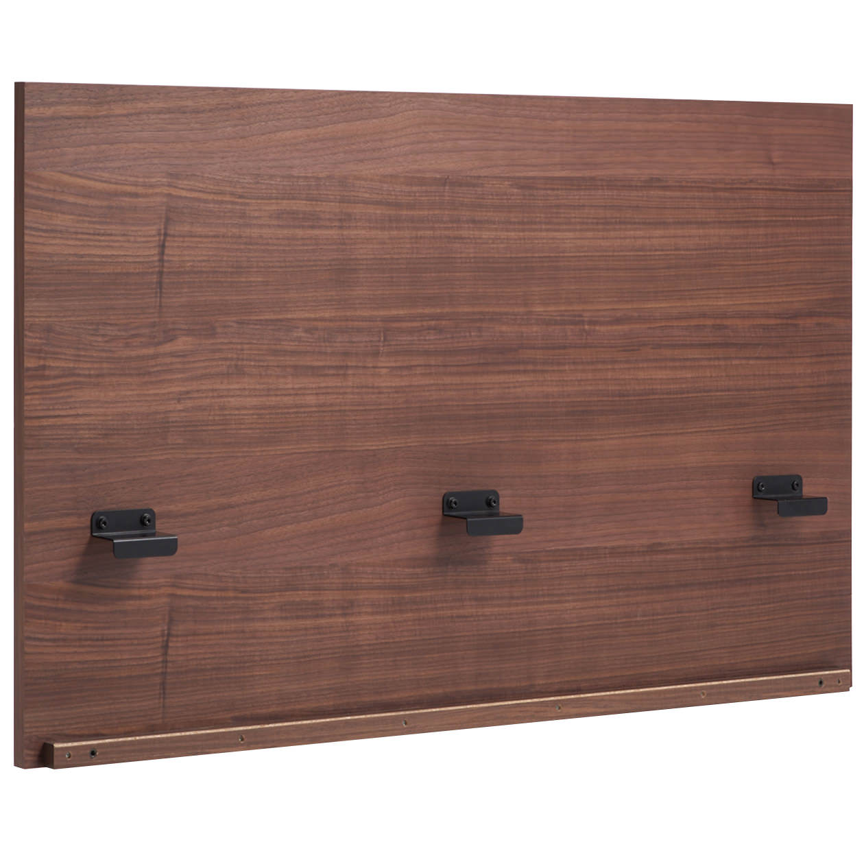 収納ベッド用ヘッドボード・セミダブル・ウォールナット材