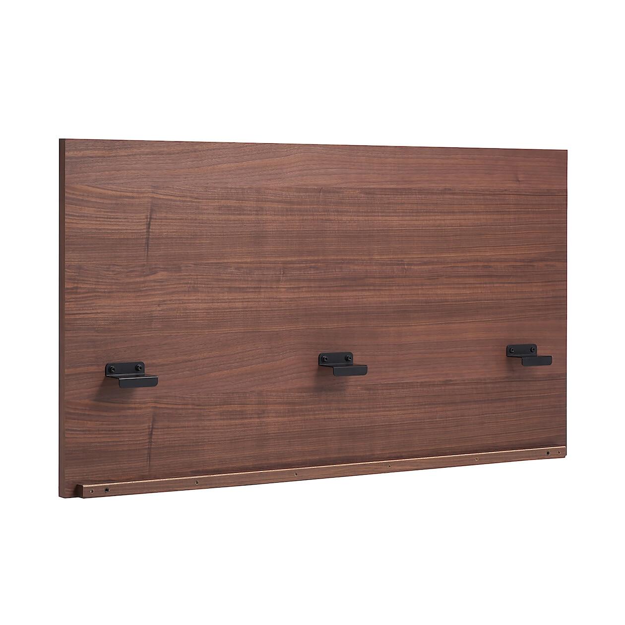収納ベッド用ヘッドボード・ダブル・ウォールナット材