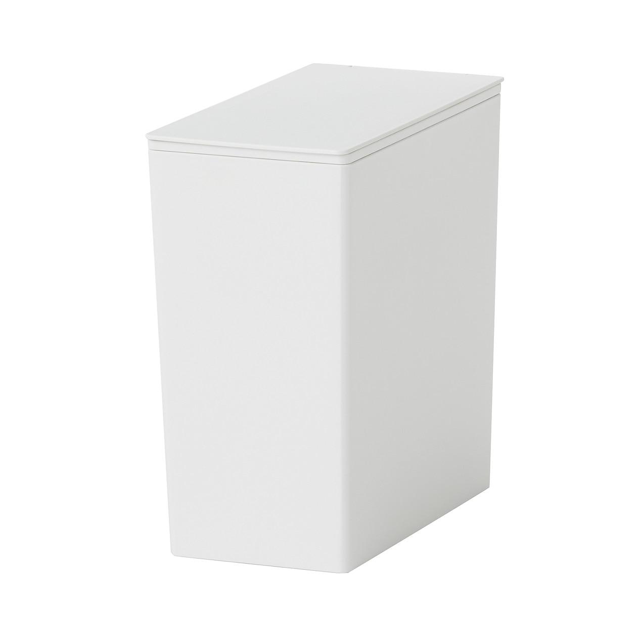 ポリプロピレンごみ箱・角型・袋止め付/小(約3L)