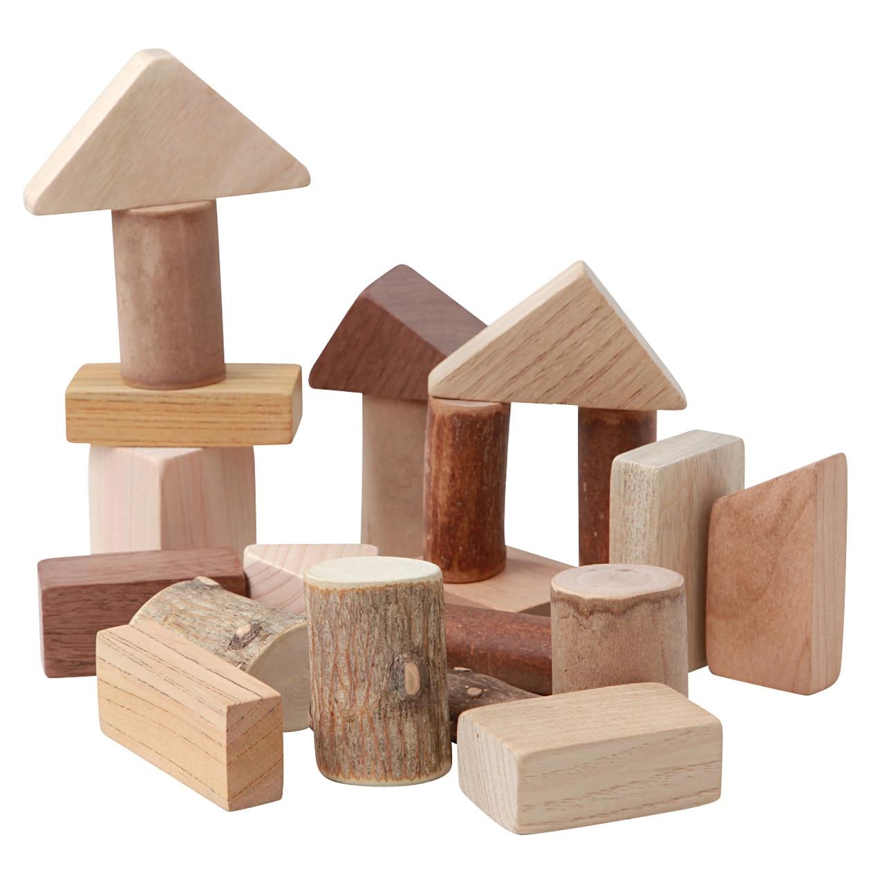 日本の木のおもちゃ_9種のこっぱのつみき