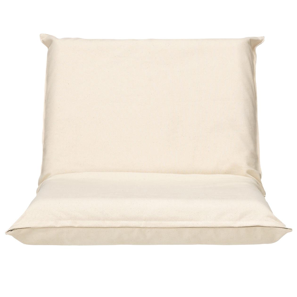 座いす小用カバー/綿帆布生成