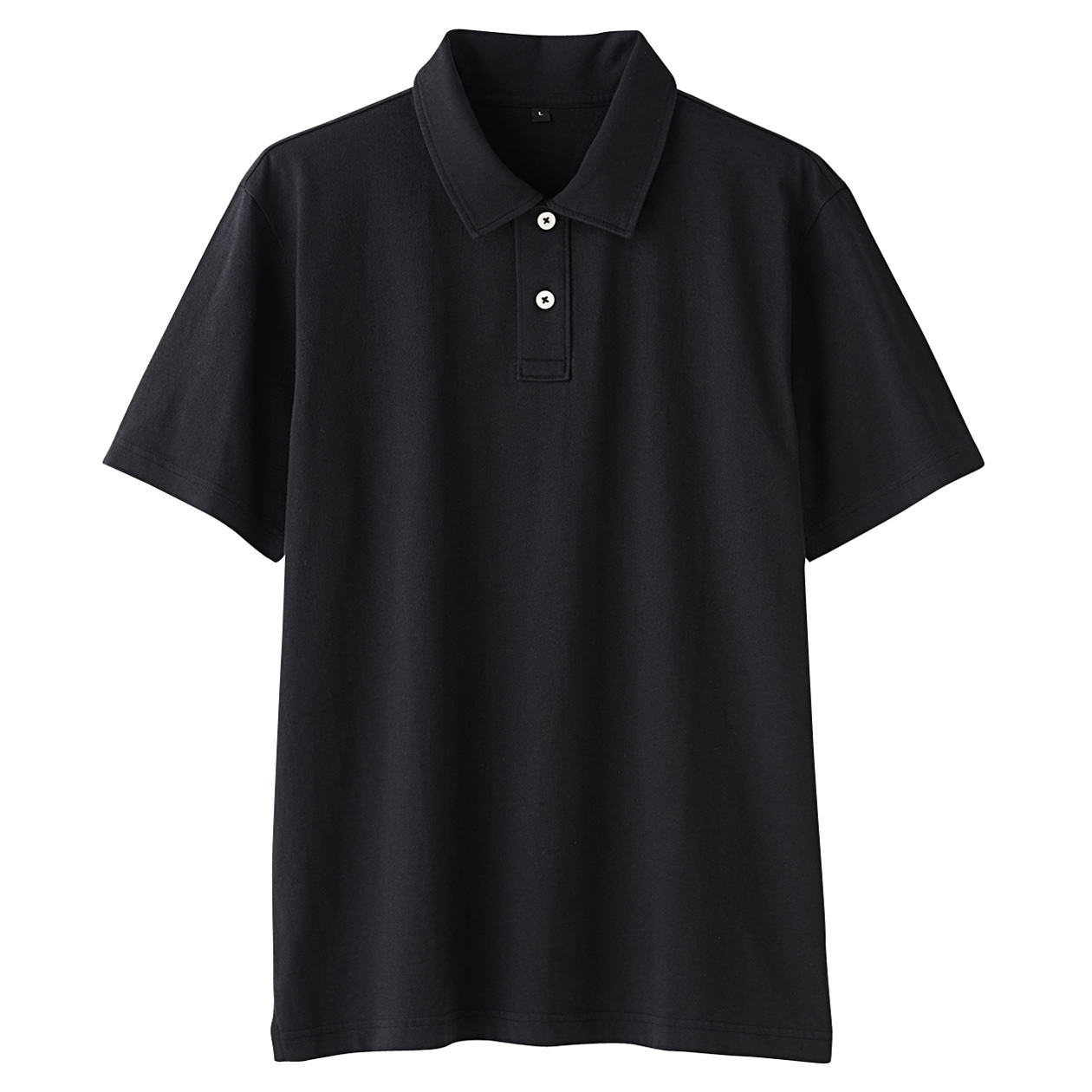 ogc plain stitch polo shirt men xl black muji. Black Bedroom Furniture Sets. Home Design Ideas