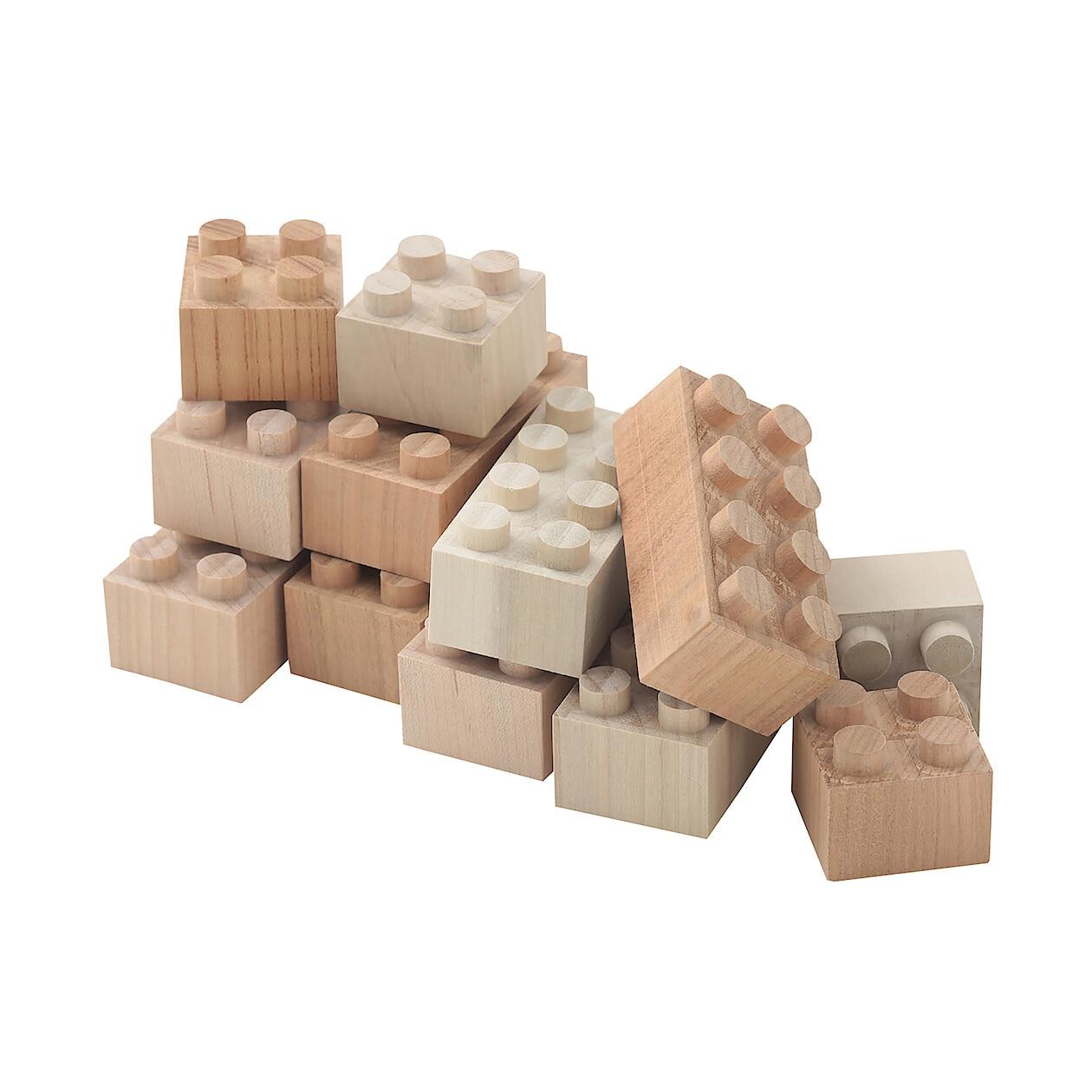 日本の木のおもちゃ_木のブロック・もくロック・大