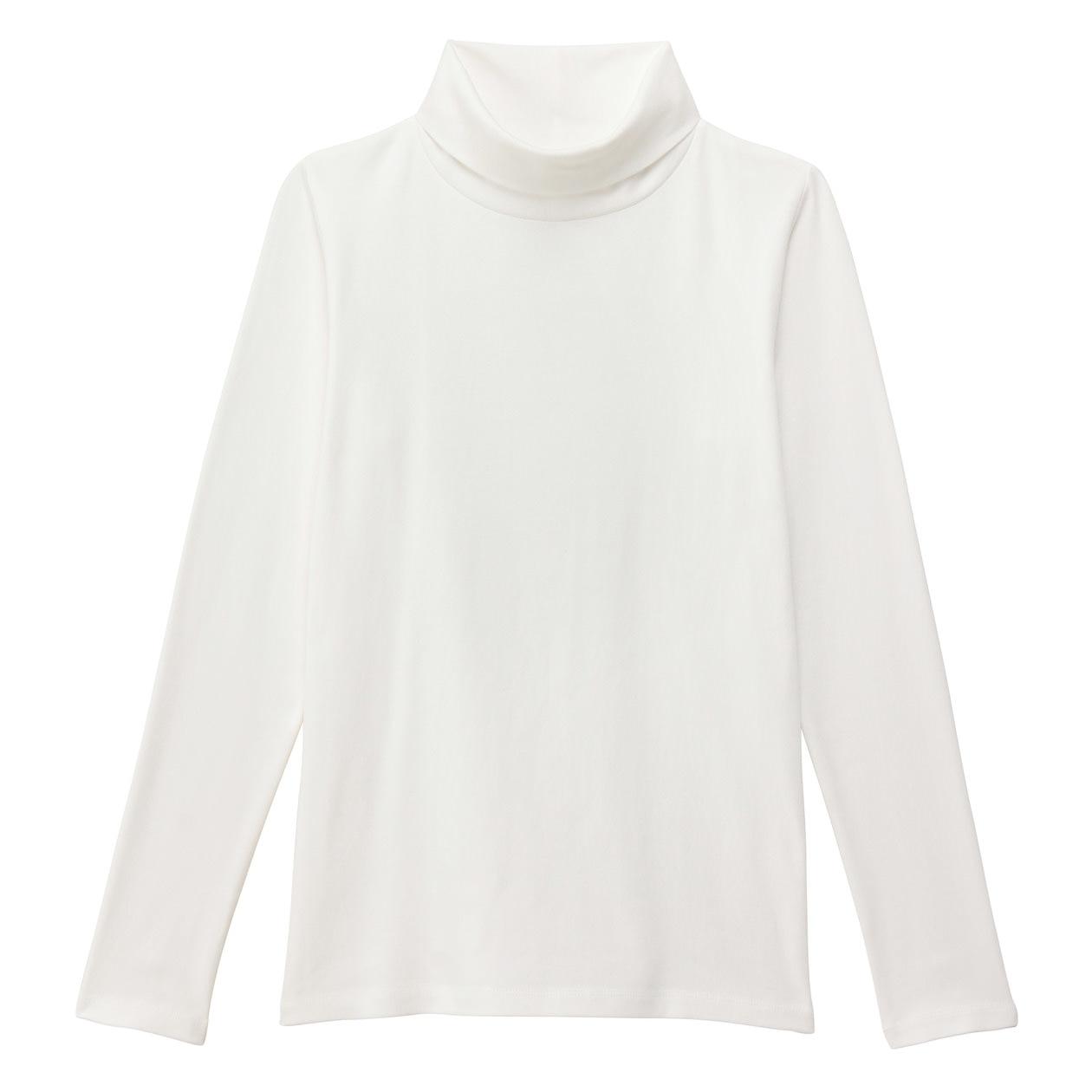 オーガニックコットンストレッチタートルネックTシャツ