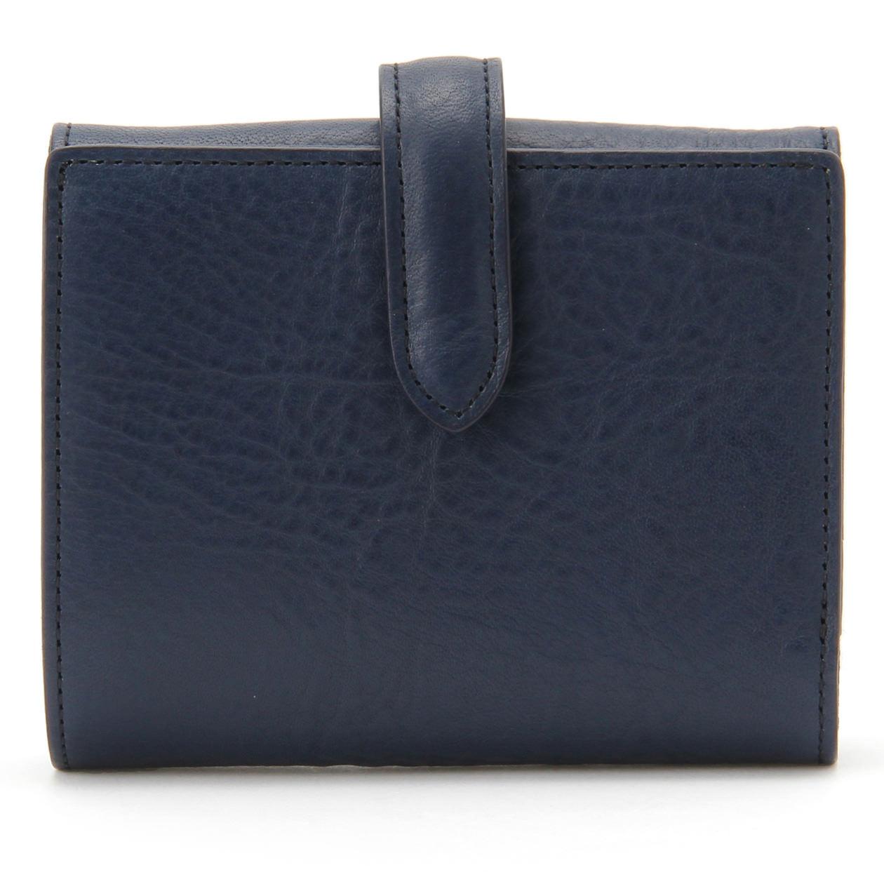 ヌメシュリンク革二つ折財布