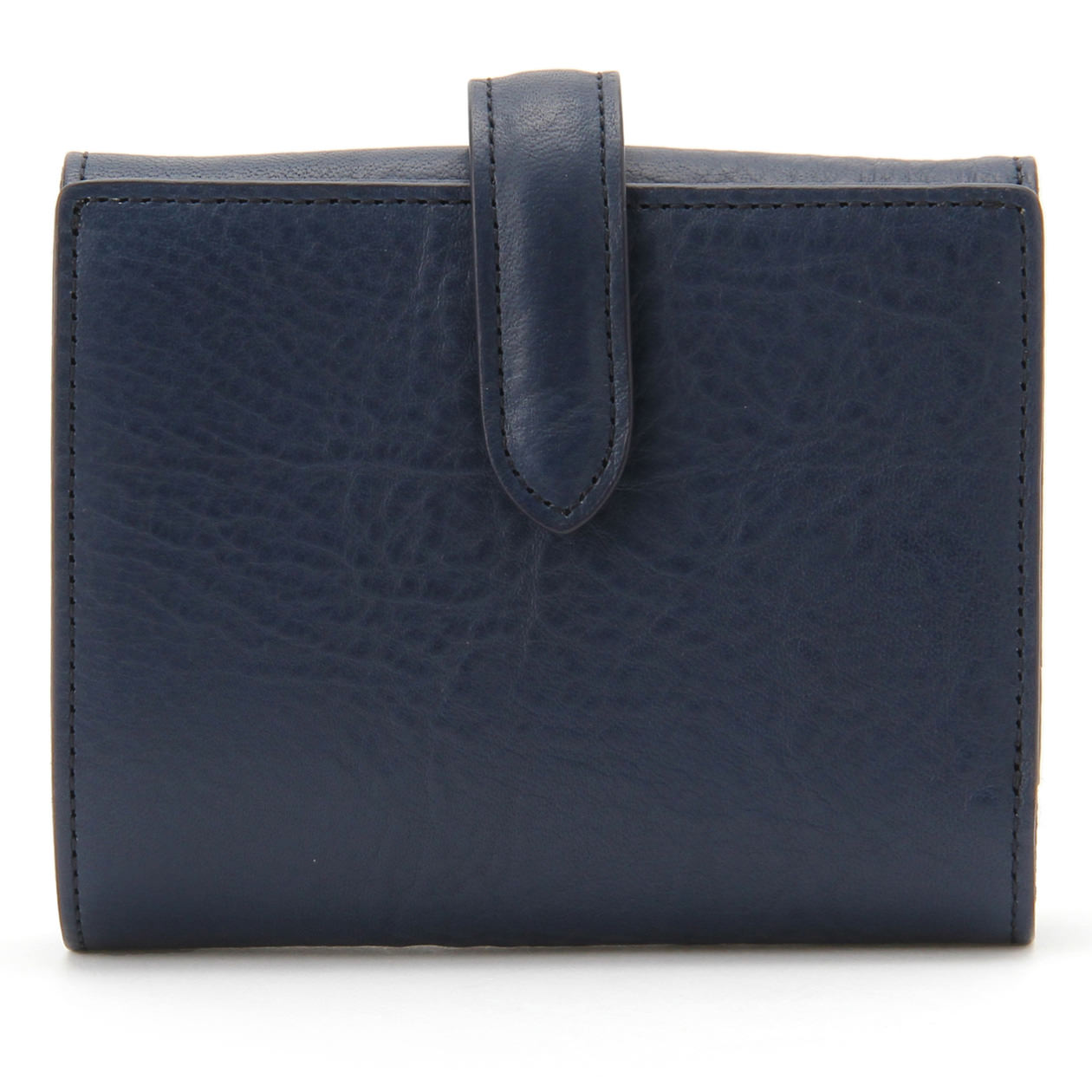 FRAMeWORK(フレームワーク)の無印良品2つ折り財布イタリア産ヌメ革ダーク