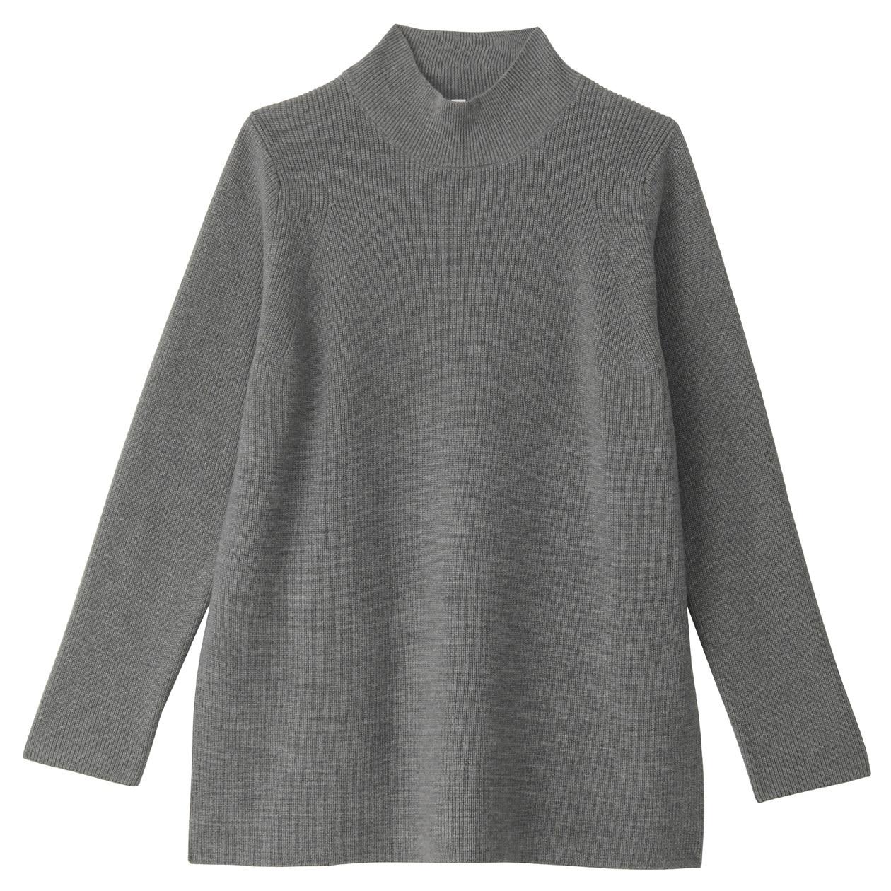 チクチクをおさえた洗えるハイネックセーター