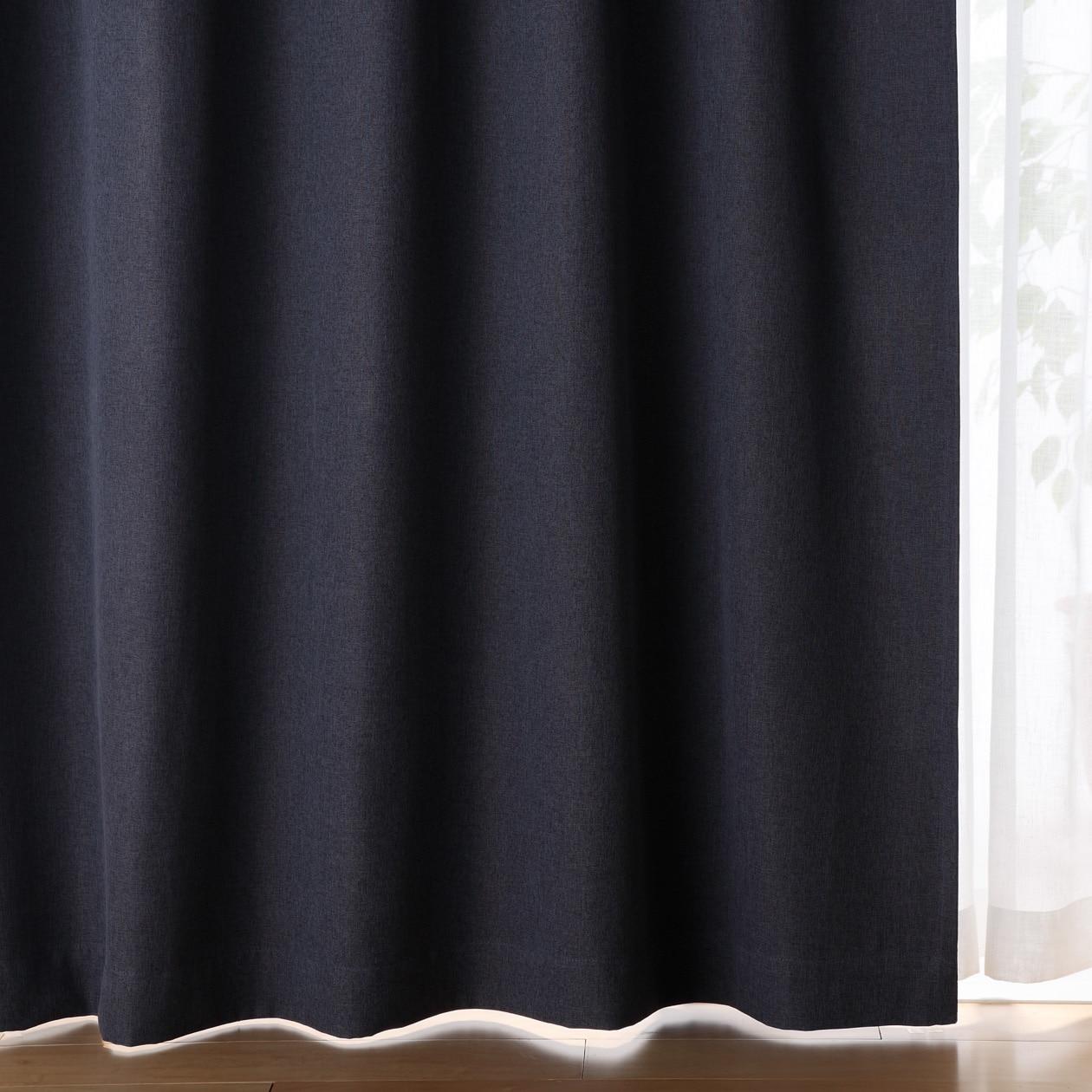 RoomClip商品情報 - ポリエステルドビー織(防炎・遮光性)プリーツカーテン/ダークブルー