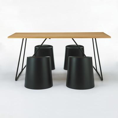 折りたたみテーブル・幅160cm・オーク材 幅160×奥行70×高さ72cm