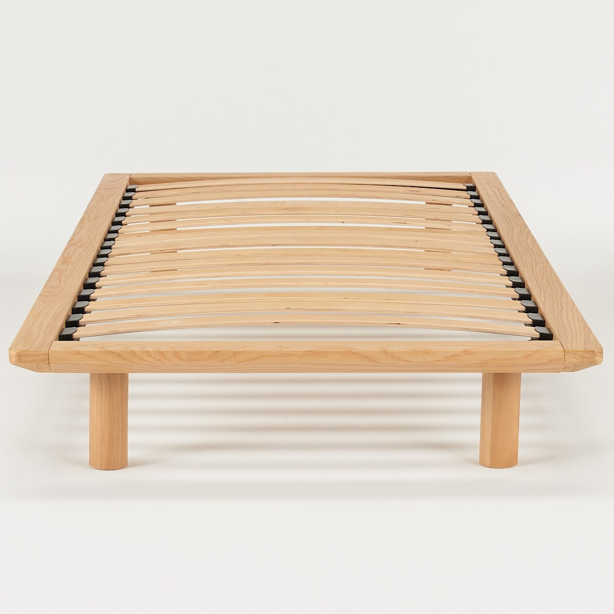 oak wood bed frame muji