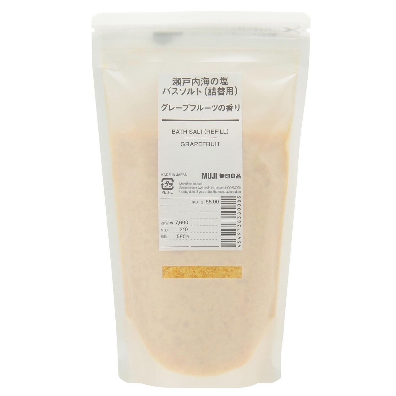 瀬戸内海の塩バスソルト・グレープフルーツの香り(詰替用)