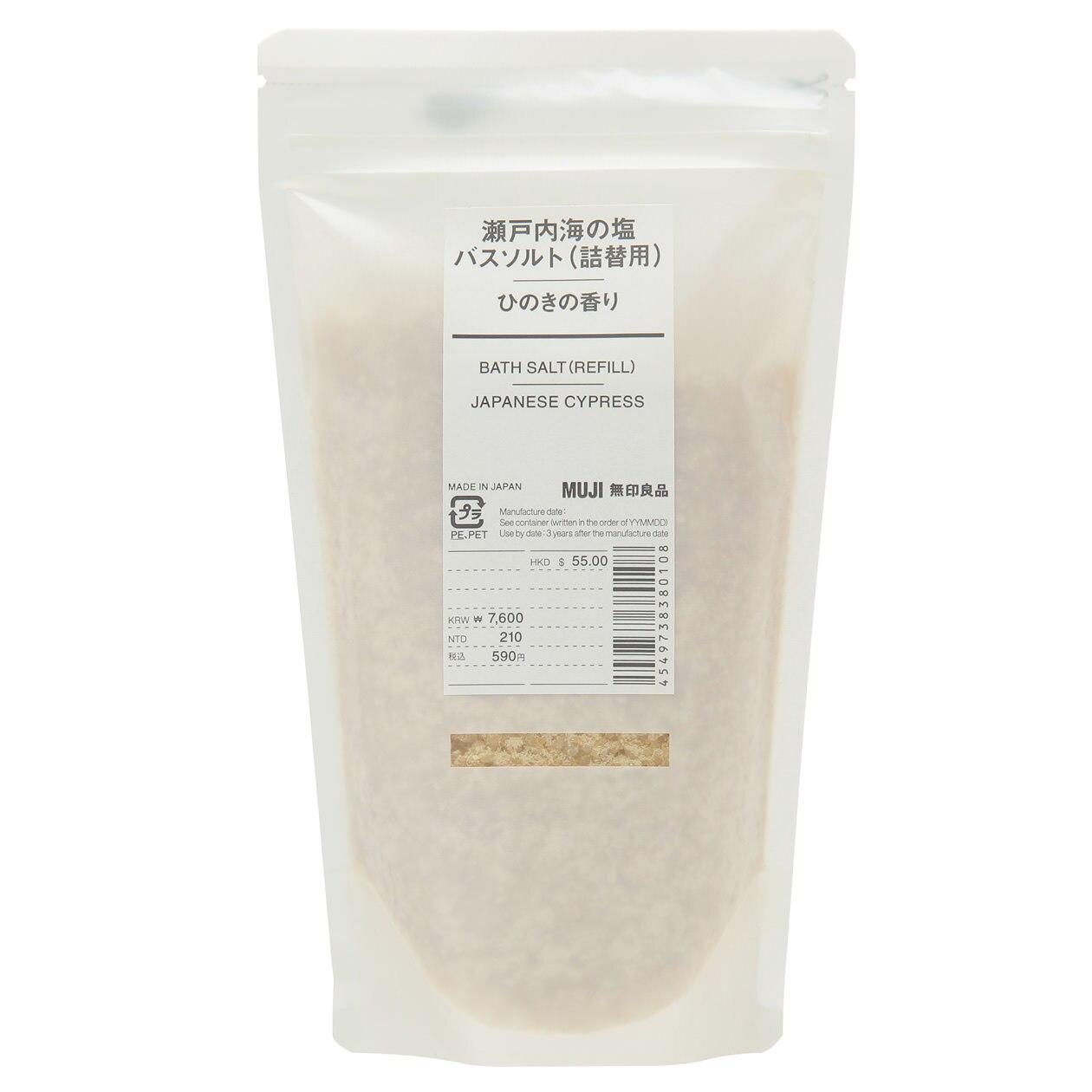 瀬戸内海の塩バスソルト・ひのきの香り(詰替用)