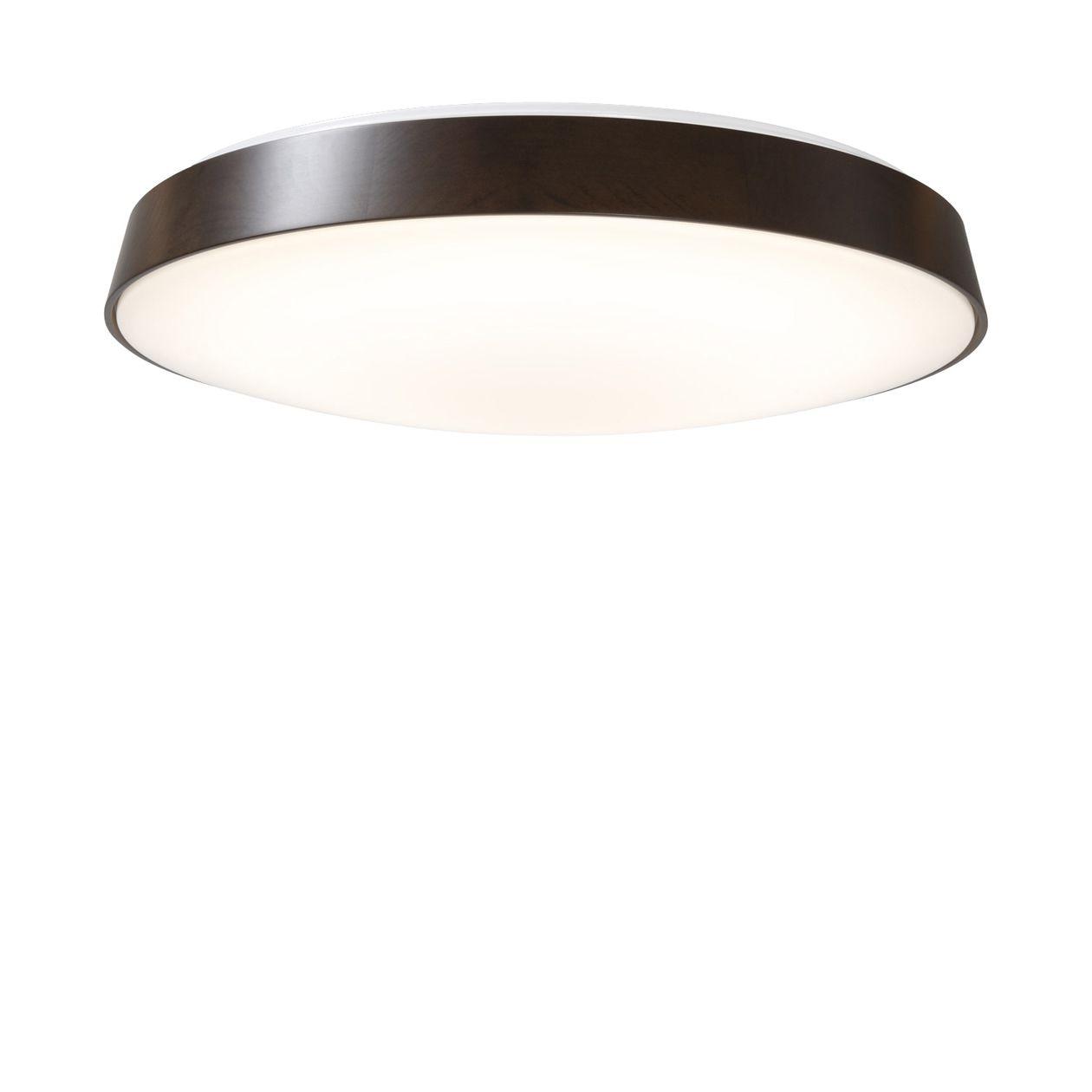 LED木製シーリングライト・調光調色機能付・ナチュラル ダークブラウン