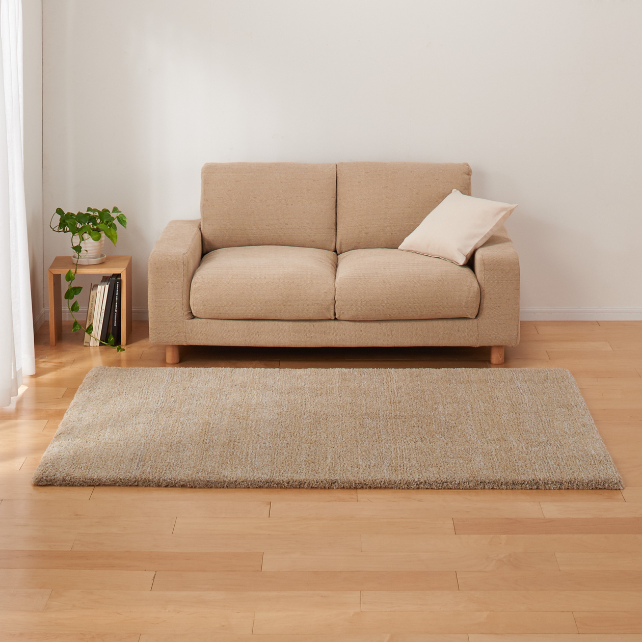 beige furniture. POLYESTER SOFT RUG BEIGE Beige Furniture L