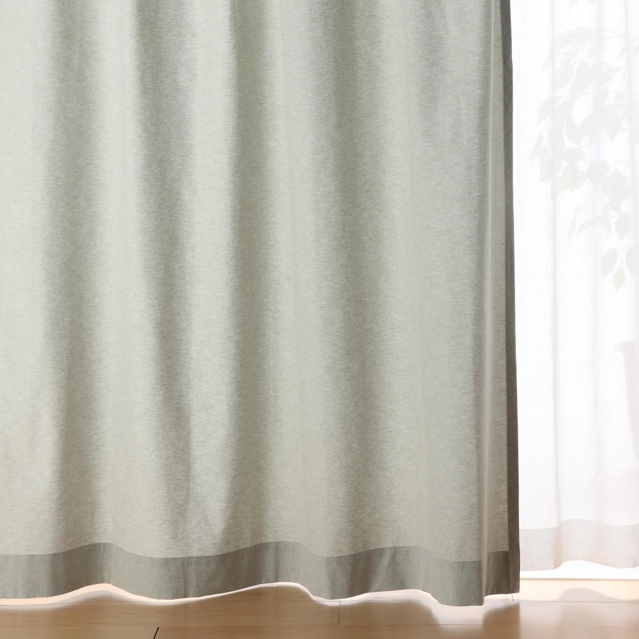 RoomClip商品情報 - 綿帆布プリーツカーテン/生成 幅100×丈105cm/グリーン