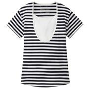 オーガニックコットン天竺授乳に便利なTシャツ