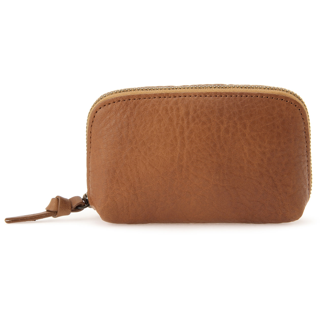 TANNED SHRINK LEATHER KEY & CARD CASE BROWN | MUJI