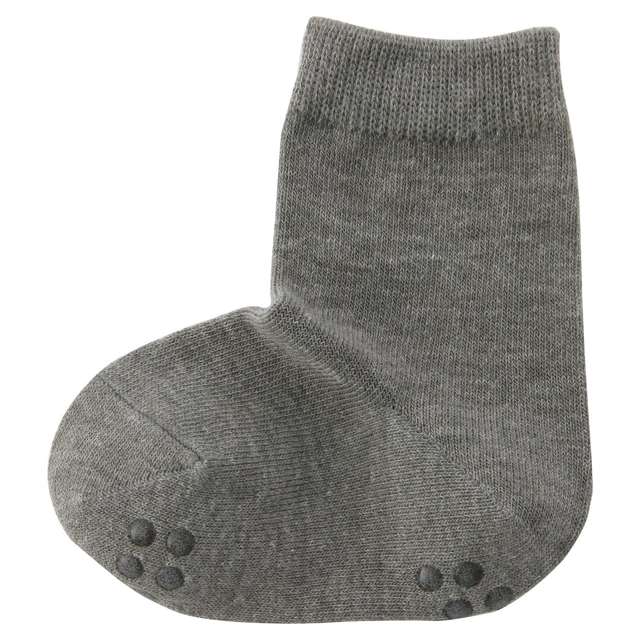Right Angle Stretchy Plain Socks Baby Baby 13 15cm Gray Muji