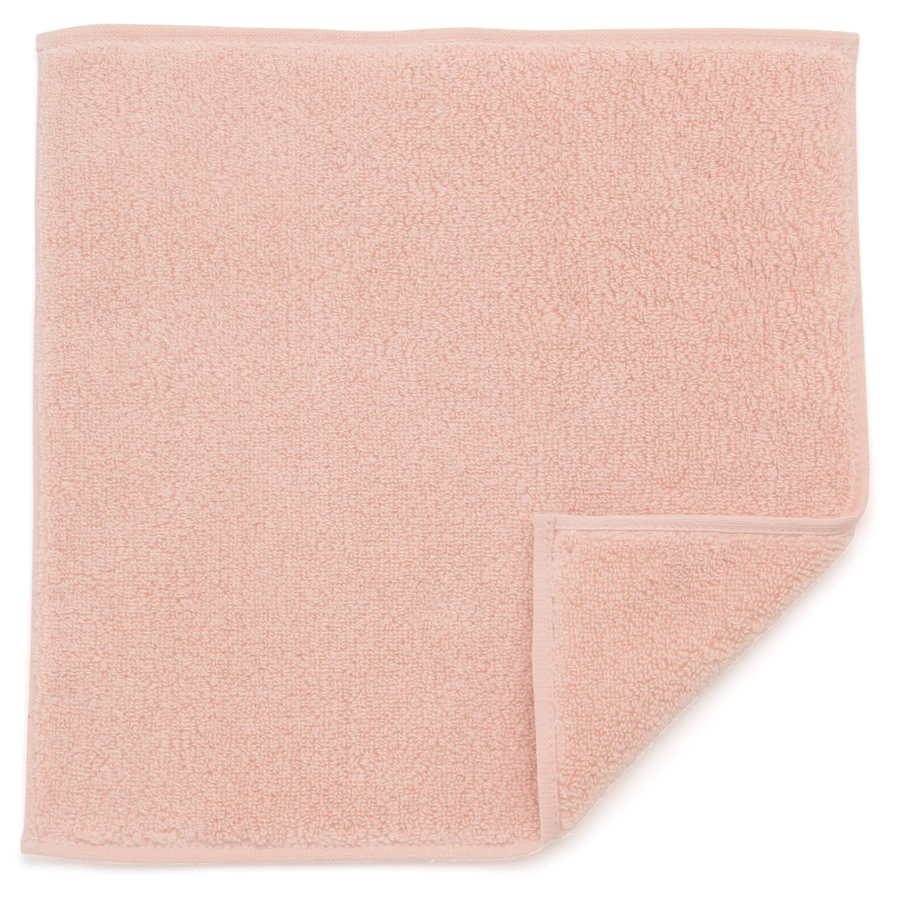 オーガニックコットンやわらかタオルハンカチ ピンク
