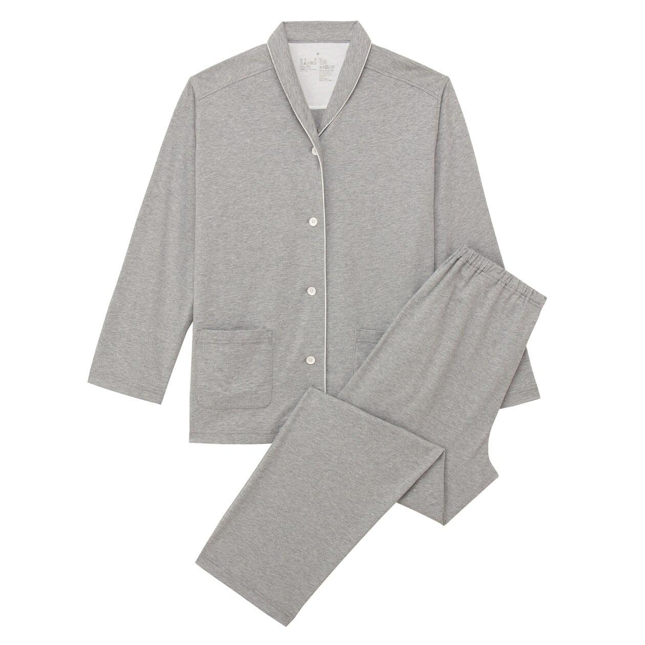 脇に縫い目のない天竺パジャマ