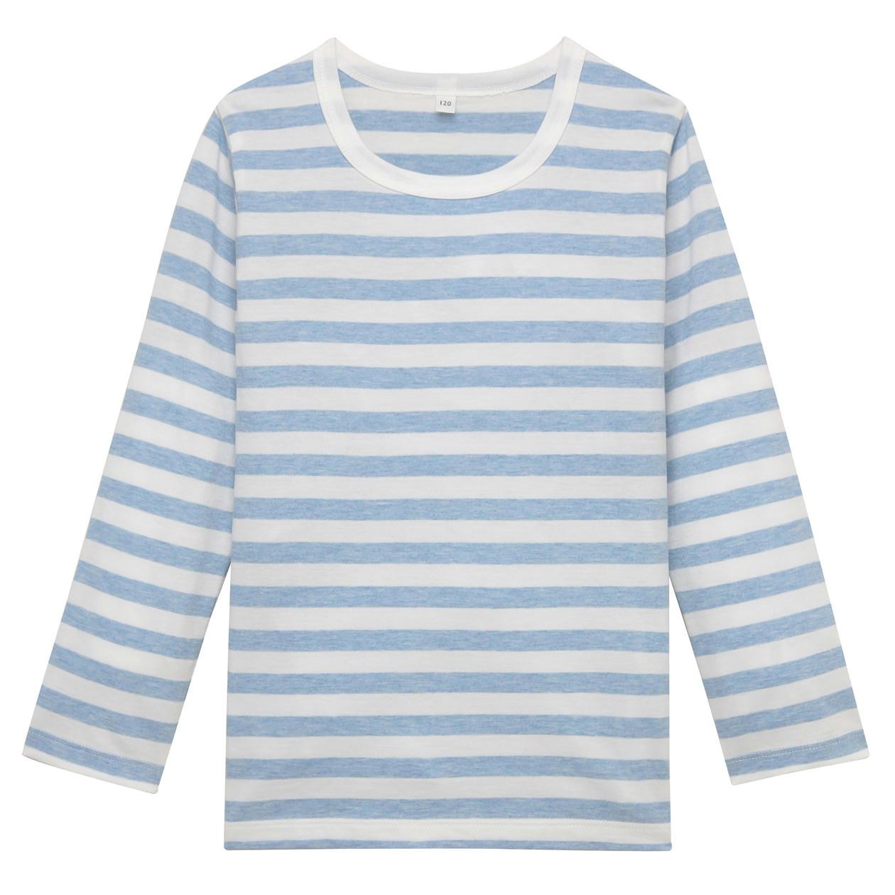 毎日のこども服オーガニックコットンしましま長袖Tシャツ(キッズ)
