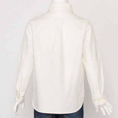 Organic Cotton Oxford Button Down Shirt Kids110 Blue Check