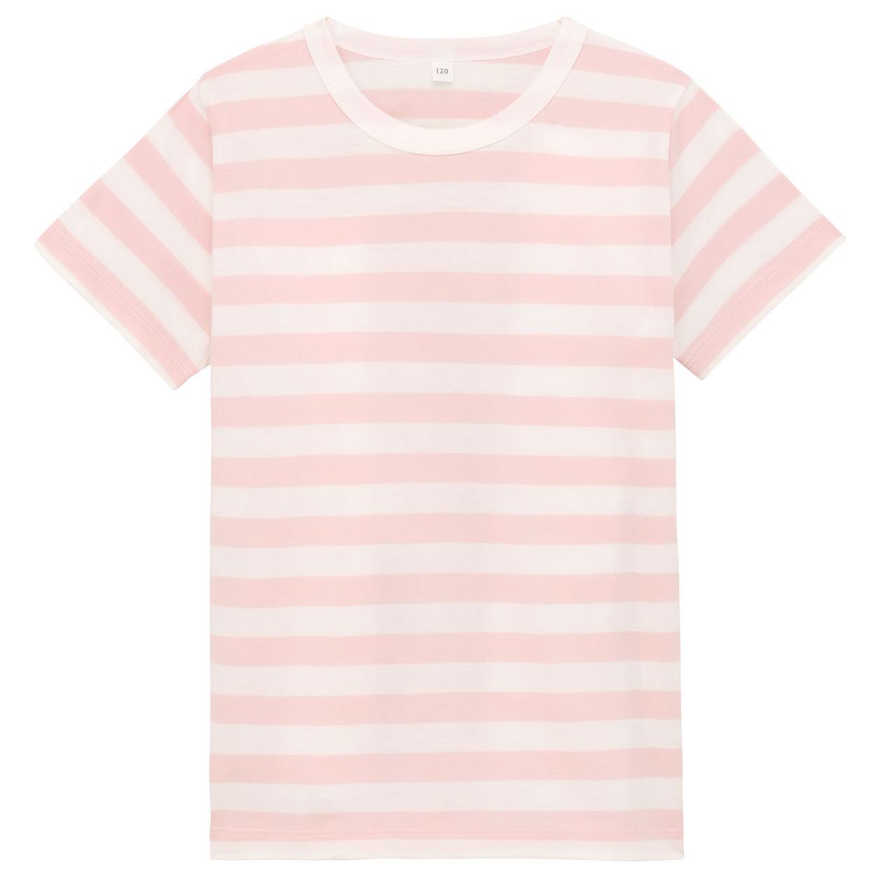 毎日のこども服オーガニックコットンしましま半袖Tシャツ(キッズ)