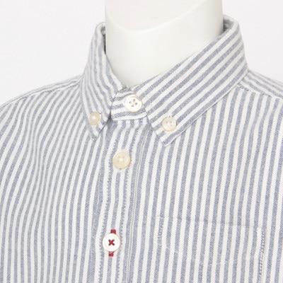 Organic Cotton Oxford Button Down Shirt Baby 90 Navy