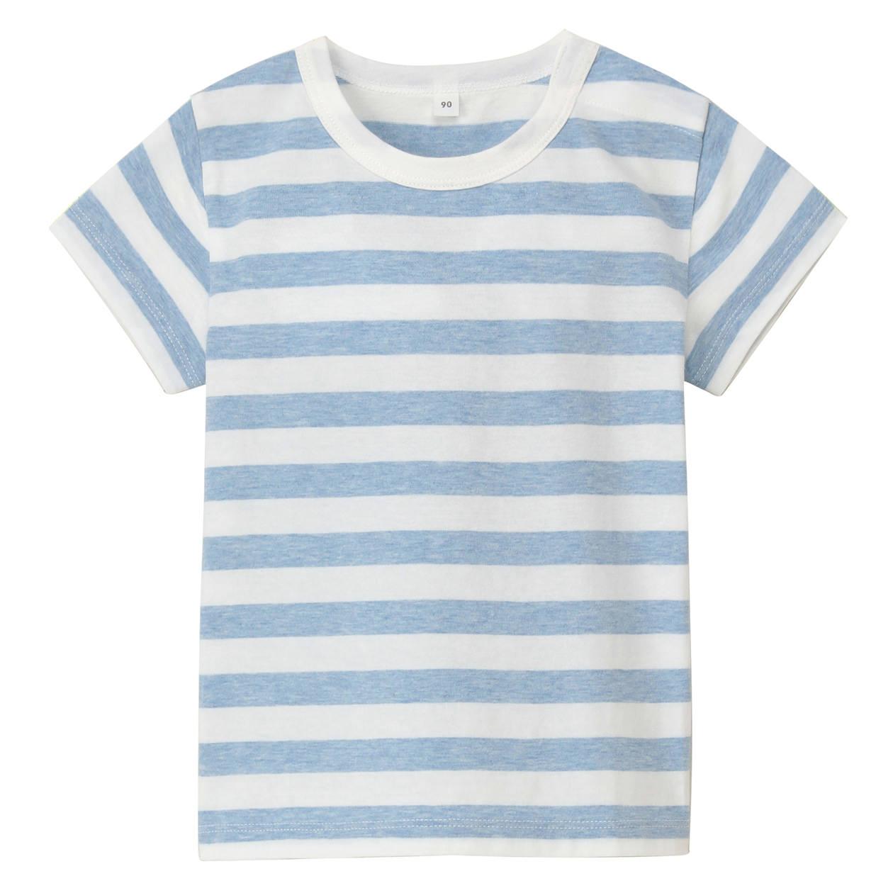 毎日のこども服オーガニックコットンしましま半袖Tシャツ(ベビー)
