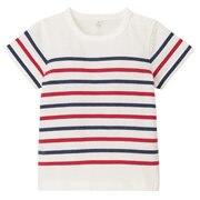 オーガニックコットンパネルボーダー半袖Tシャツ(ベビー)