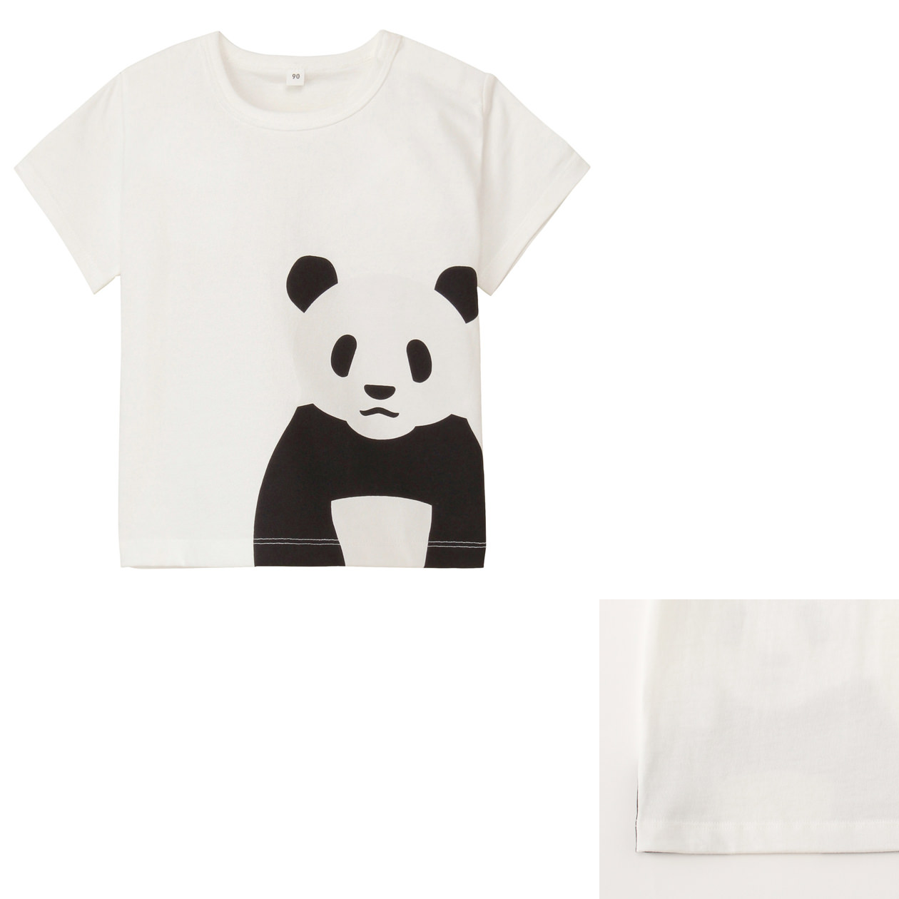 Organic cotton printed t shirt baby 100 giant panda muji for Sustainable t shirt printing