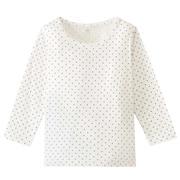 毎日のこども服オーガニックコットン水玉長袖Tシャツ(ベビー)