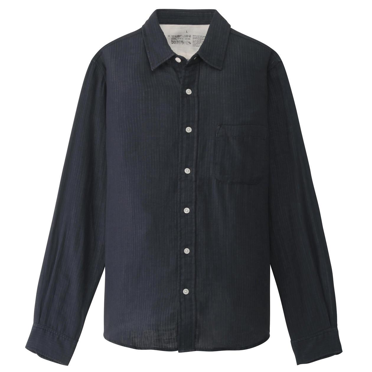 オーガニックコットン二重ガーゼシャツ