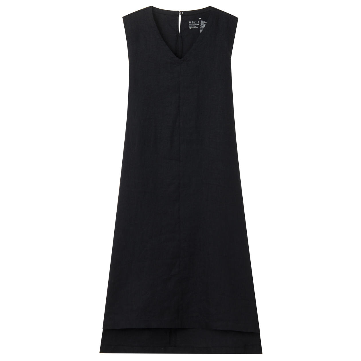 FRENCH LINEN  WASHED SLEEVELESS DRESS