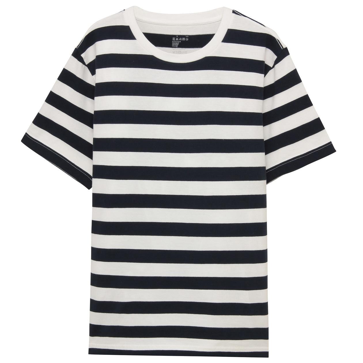 ogc border t shirt men s off white pattern muji. Black Bedroom Furniture Sets. Home Design Ideas