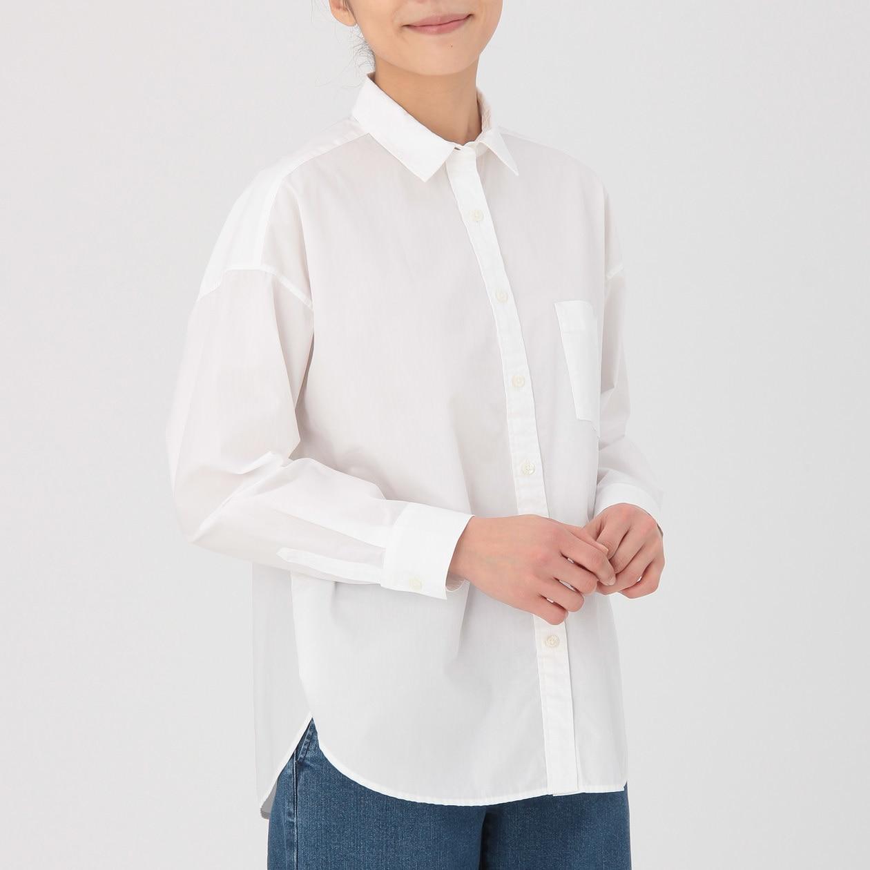 オーガニックコットン洗いざらしワイドシャツ