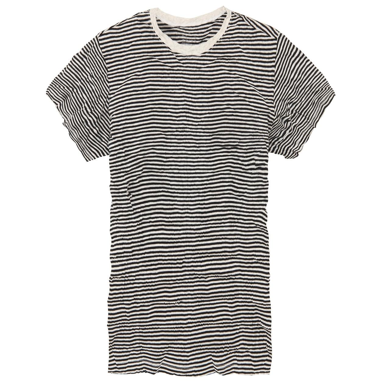 オーガニックコットン圧縮ボーダーTシャツ