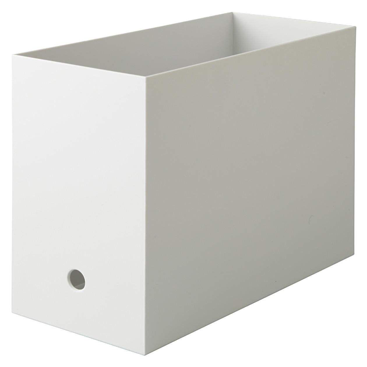 【まとめ買い】PPファイルボックス・スタンダード・ワイド・A4用ホワイトグレー