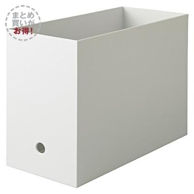 RoomClip商品情報 - 【まとめ買い】PPファイルボックス・スタンダード・ワイド・A4ホワイトグレー