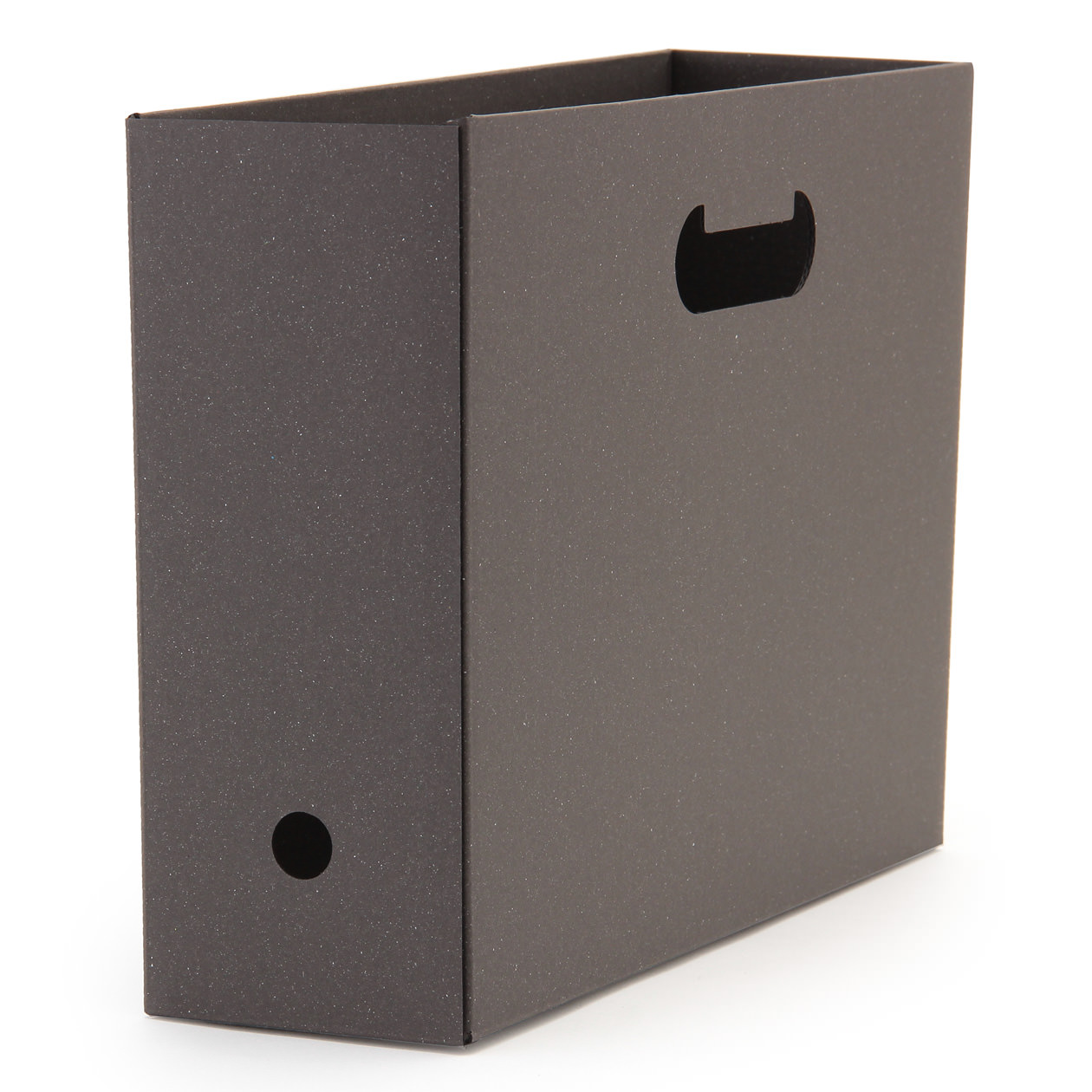 ワンタッチで組み立てられるダンボールファイルボックス5枚組の写真