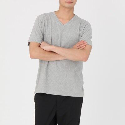 無印良品 | オーガニックコットンVネック半袖Tシャツ【サイズ拡大】紳士XXL・オフ白 通販