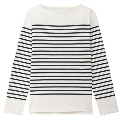 無印良品 MUJI ボーダーTシャツ サイズXL オーガニックコットン 格安スタート_画像2