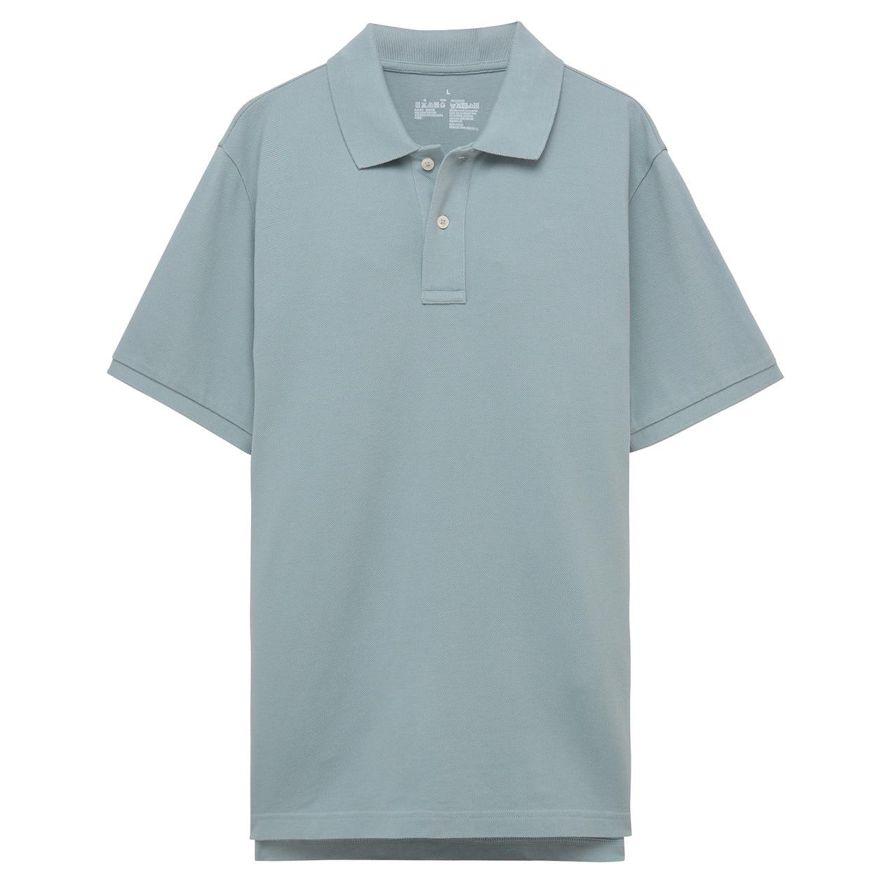 オーガニックコットン鹿の子ポロシャツ【サイズ拡大】