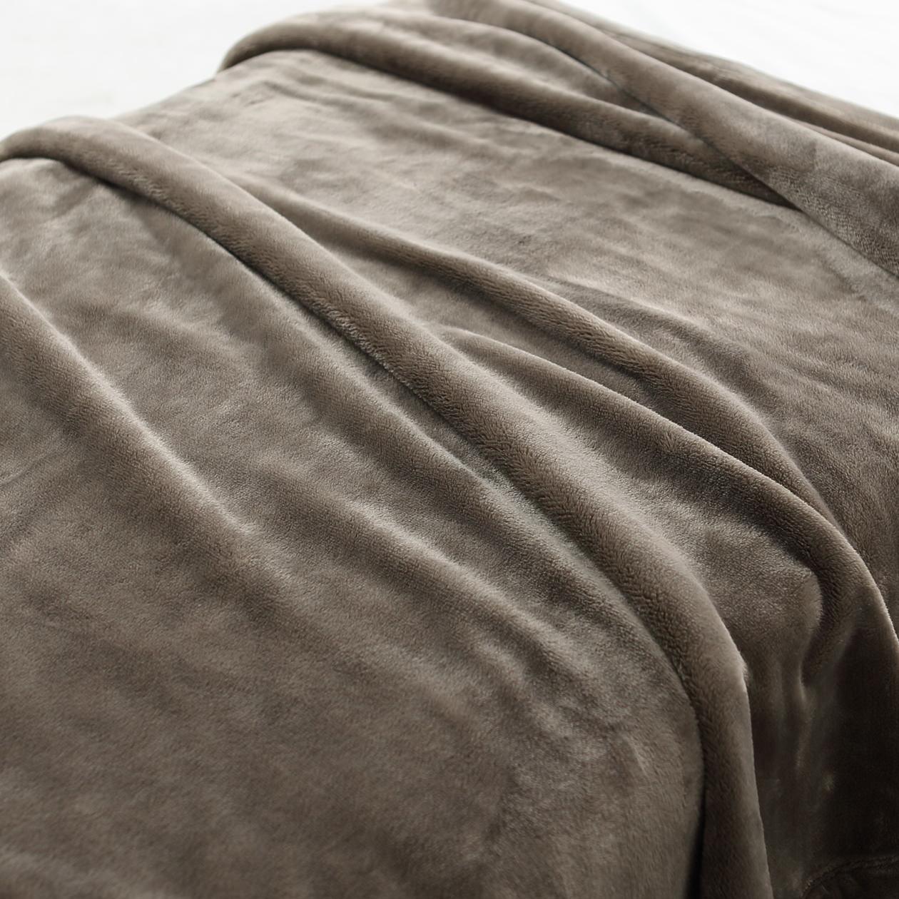 RoomClip商品情報 - あたたかファイバー厚手毛布・D/ベージュ D/ベージュ