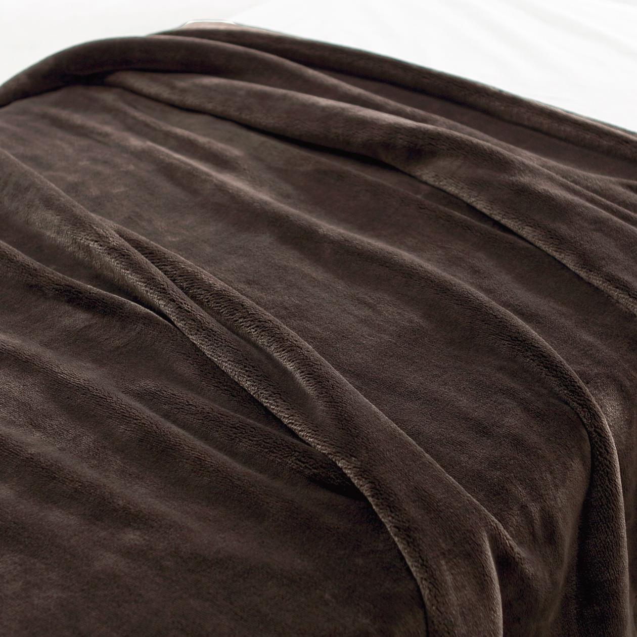あたたかファイバー厚手毛布・D/ブラウン D/ブラウンの写真