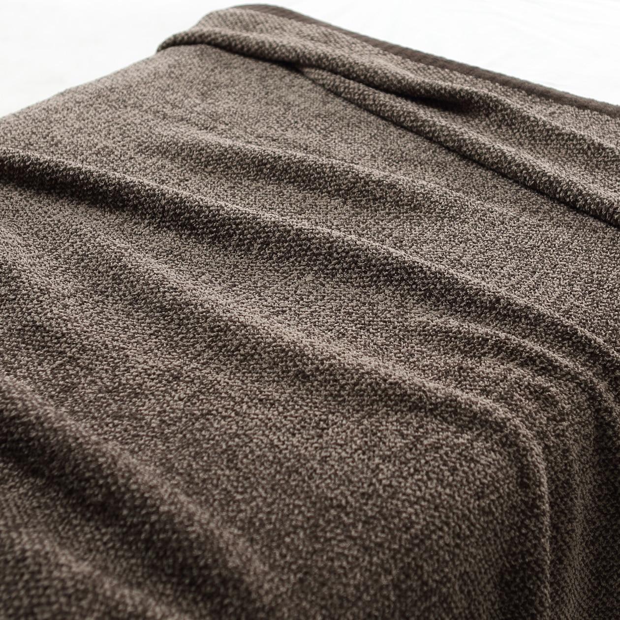 モール糸使いニット毛布・S/ブラウン