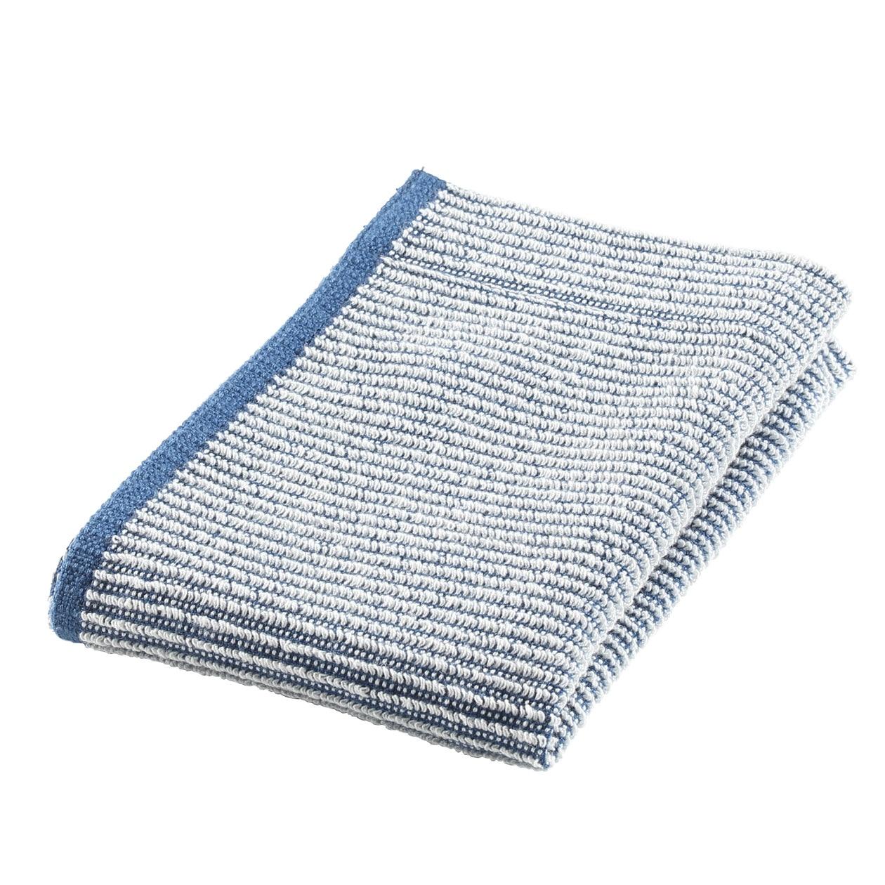 インドオーガニックコットンショートパイル藍染ハンドタオル