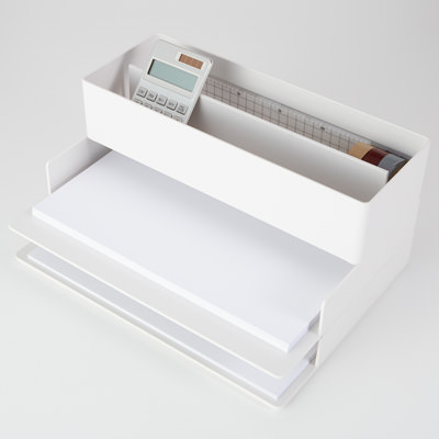 ABS樹脂 A4書類トレー・横 A4 約幅24×奥行32×高さ4.5cm コンビニ受取可