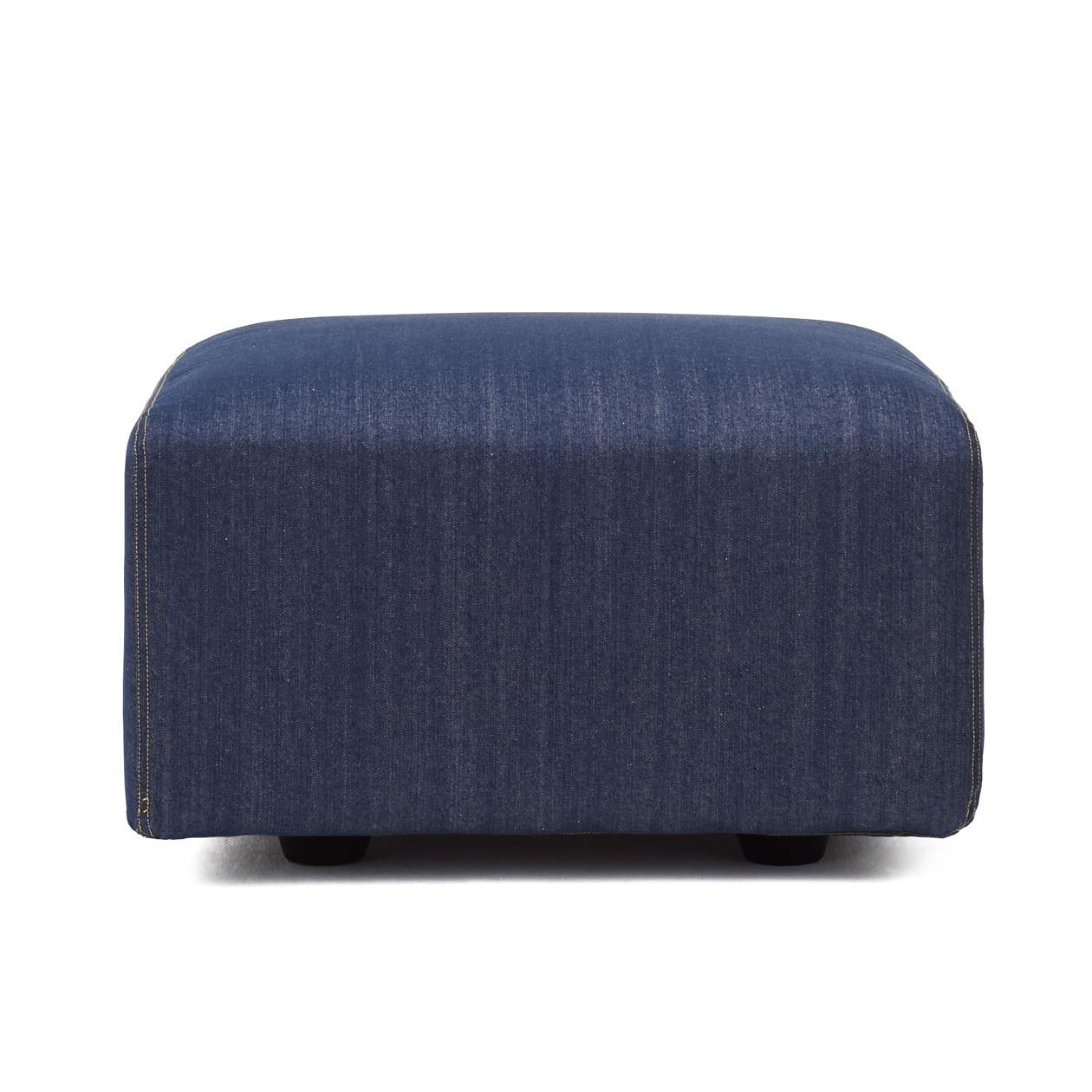 綿デニムユニットソファオットマン小用カバー/ブルー ブルー