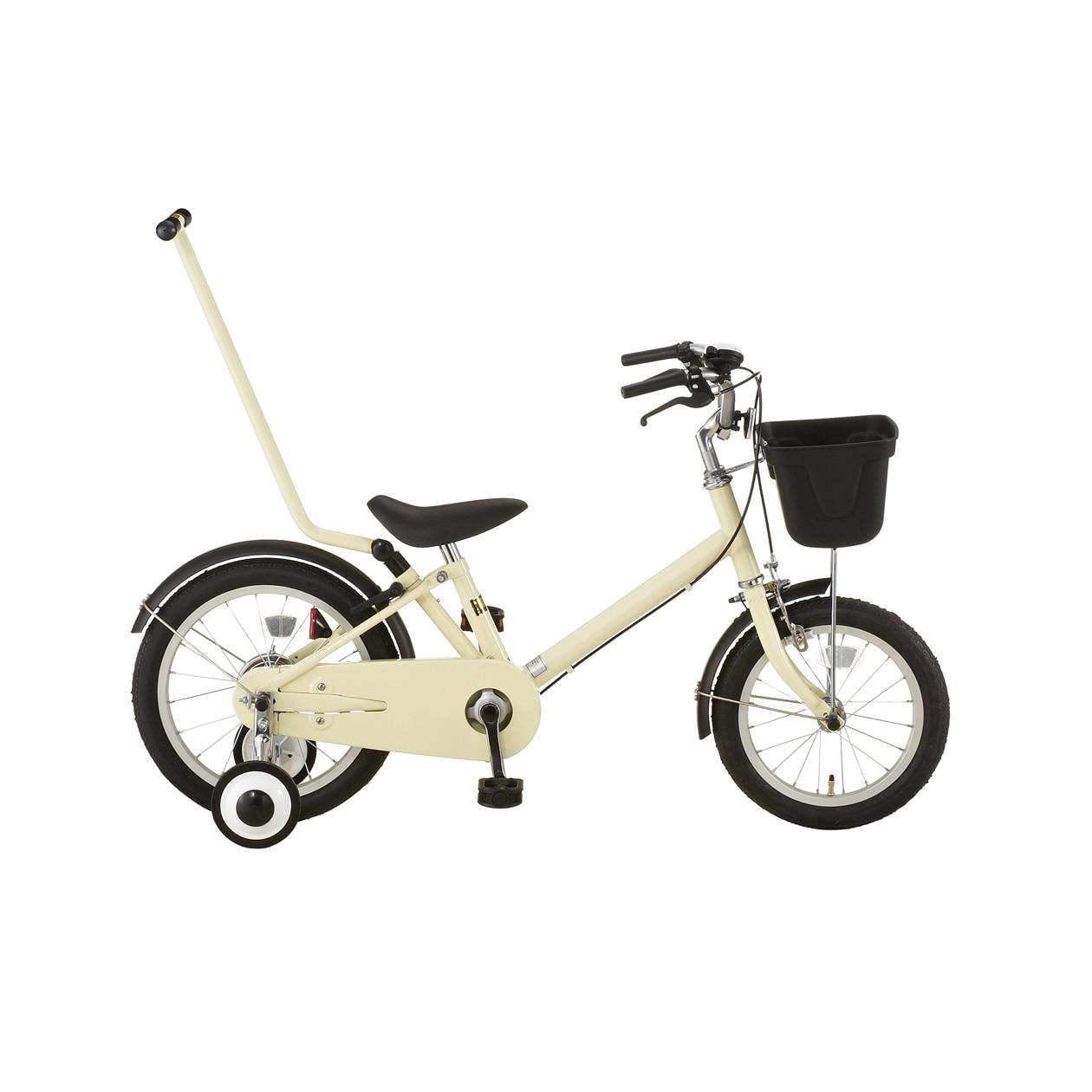 16型幼児用自転車・押し棒付き